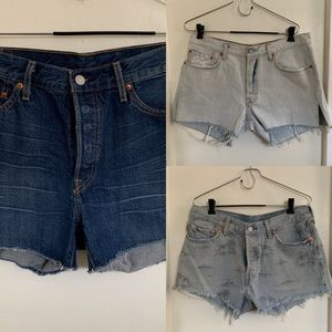 BUNDLE! Size 31 LEVIS cutoff shorts